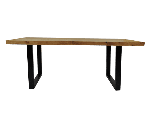 Table de salon pieds en forme de rectangle