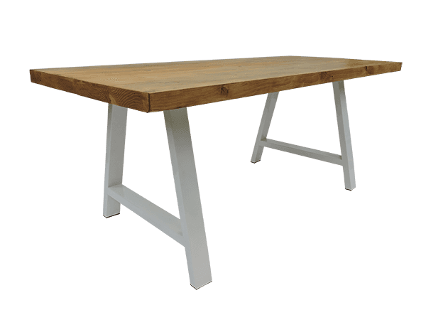 Table de salon tendance design bois naturel pied en forme de A
