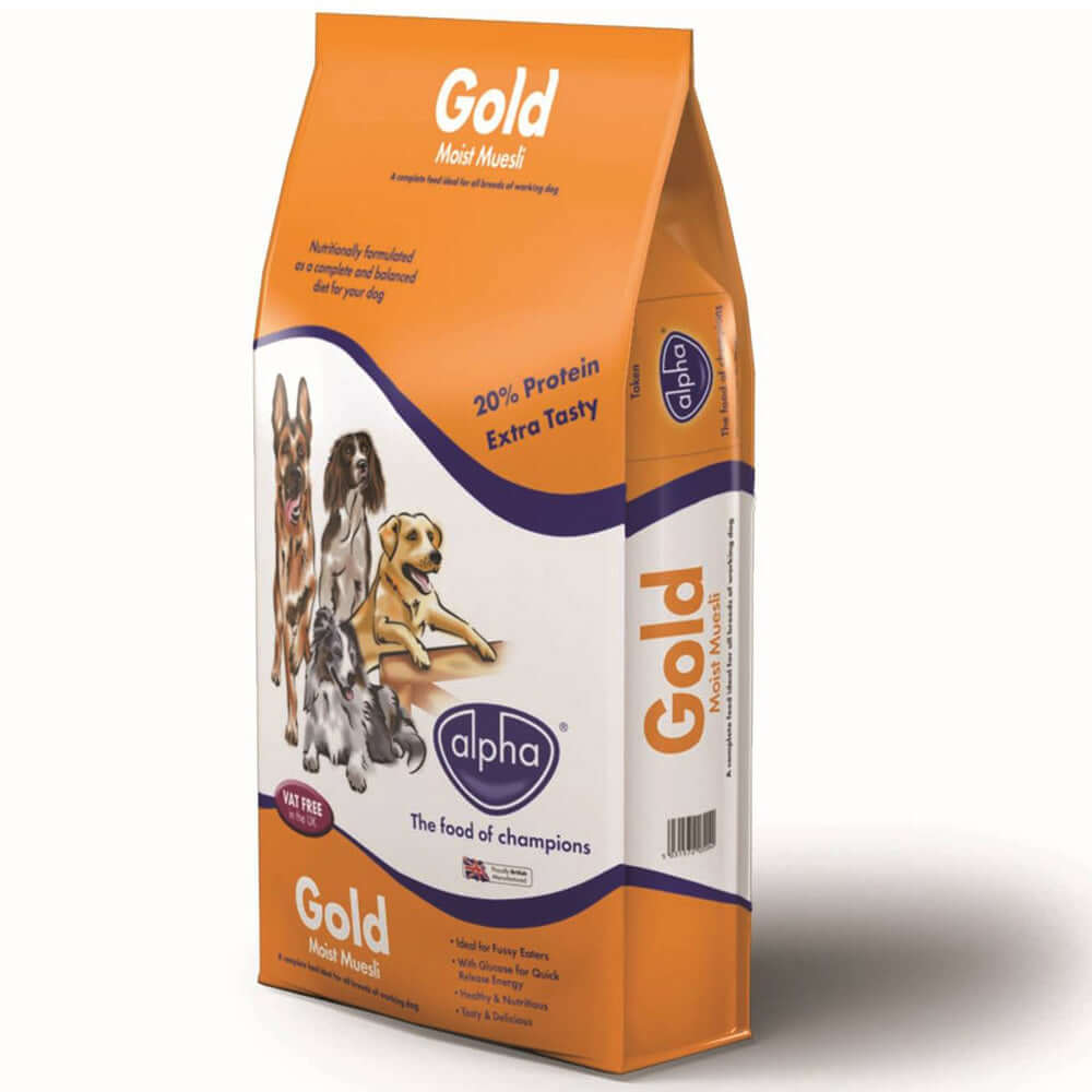 Alpha Gold Moist Muesli food for dogs