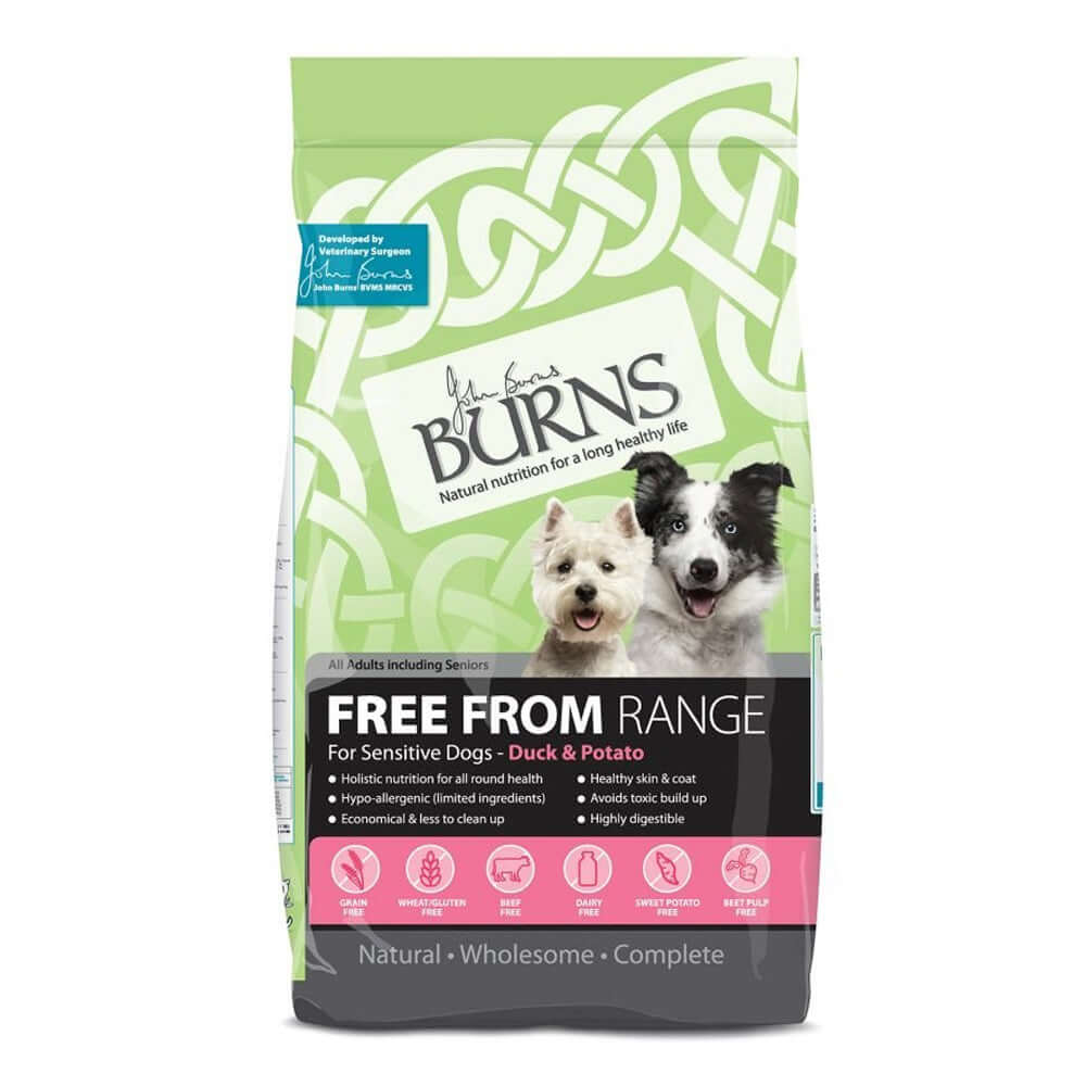 Burns Adult Dog Free From Duck & Potato Grain Free Dry Dog Food