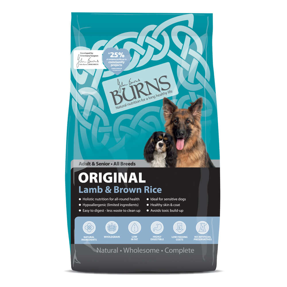Burns Adult Dog Original Lamb & Brown Rice Dry Dog Food