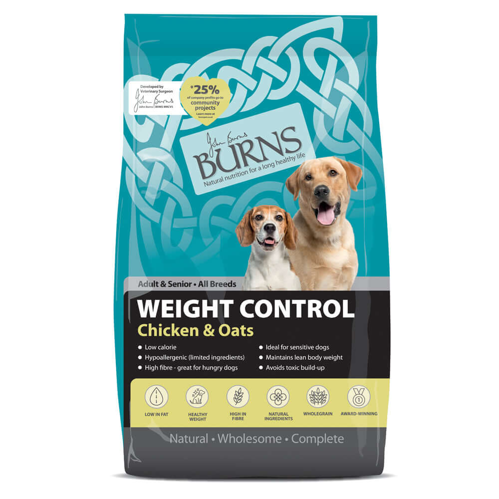 Burns Adult Dog Weight Control Chicken & Oats Dry Dog Food