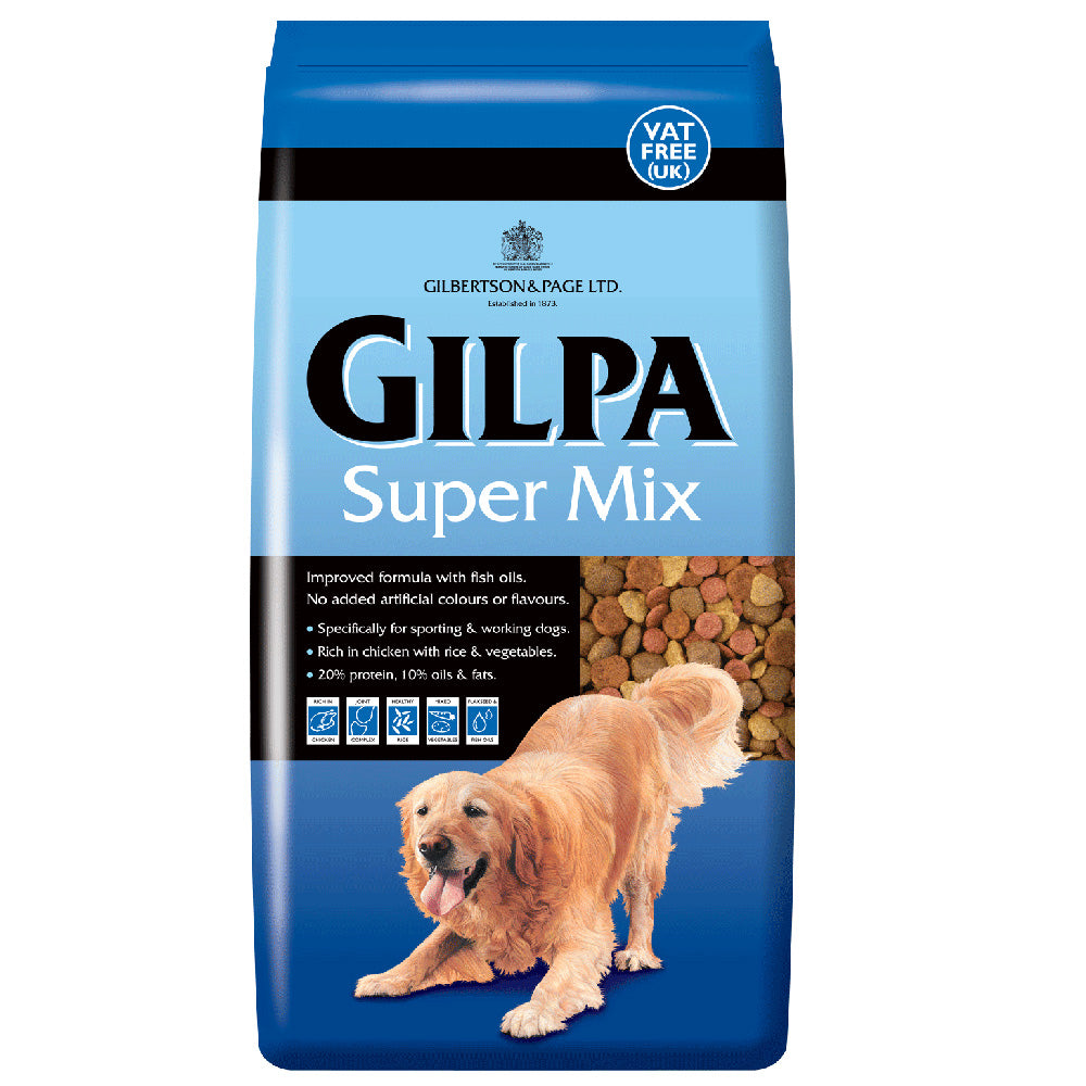 Gilpa Super Mix Chicken Rice & Vegetables Dry Dog Food