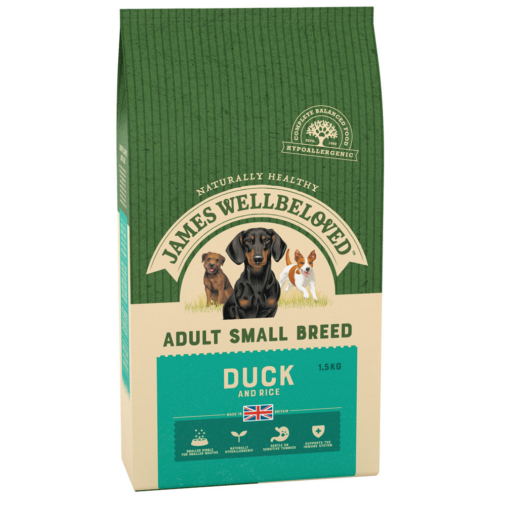 James Wellbeloved Dog Adult Small Breed Duck & Rice Dry Dog Food