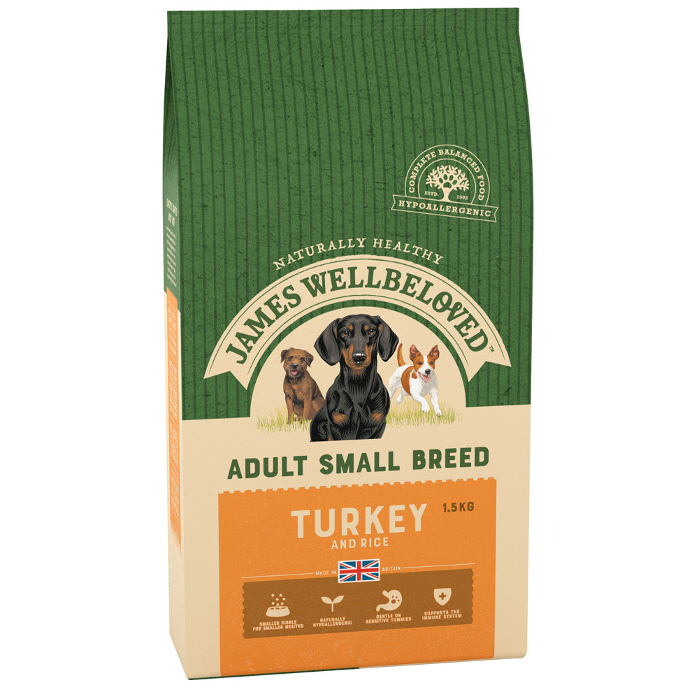 James Wellbeloved Dog Adult Small Breed Turkey & Rice Dry Dog Food