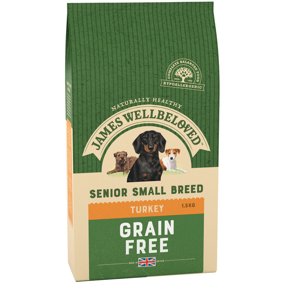 James Wellbeloved Dog Senior Small Breed Turkey Dry Dog Food