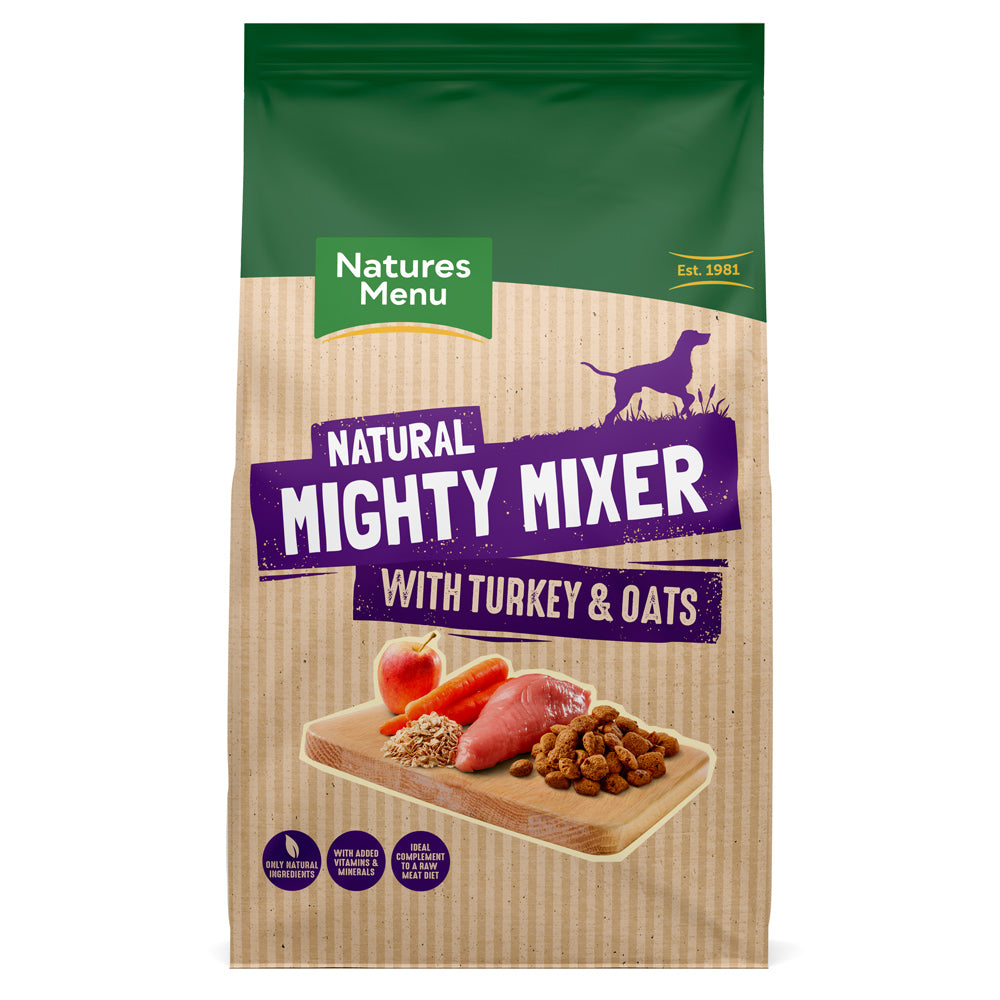 Natures Menu Mighty Mixer With Turkey & Oats Dry Dog Food