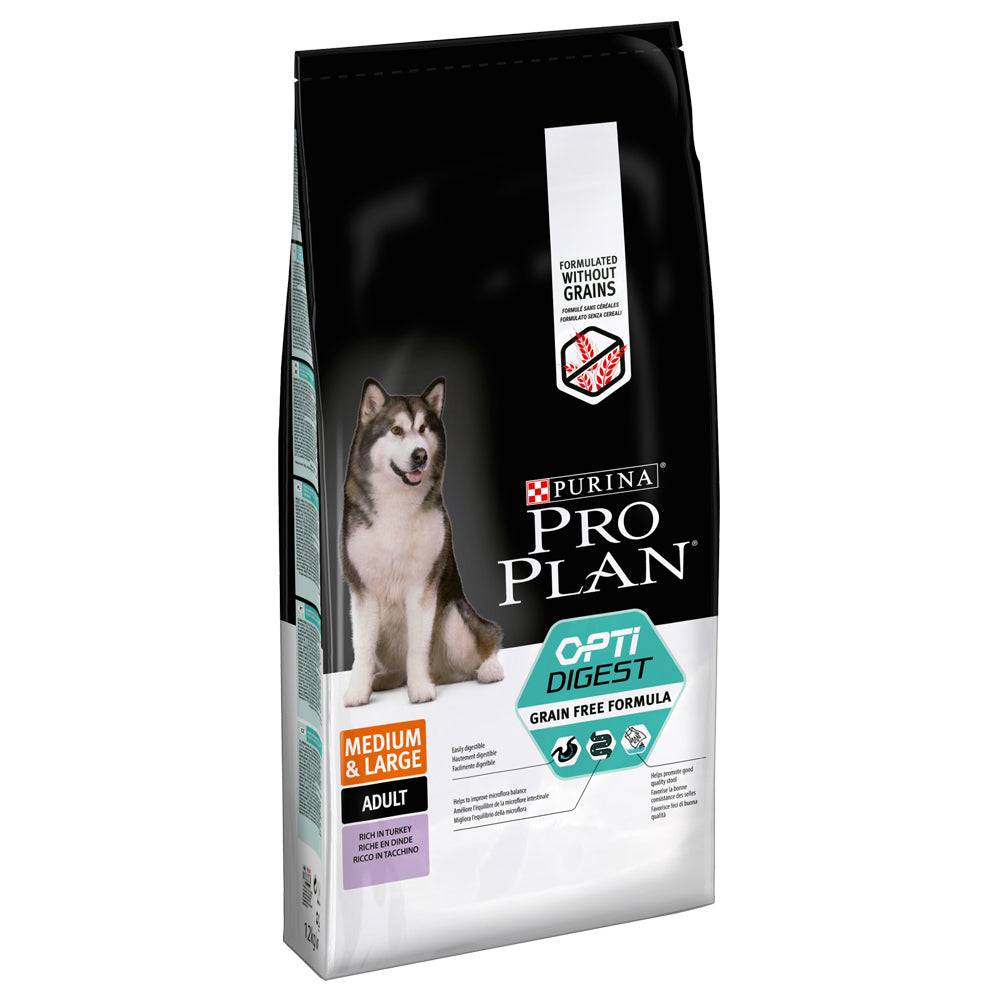 Pro Plan Dog Adult Medium Large Sensitive Digestion Turkey Grain Free Dry Dog Food