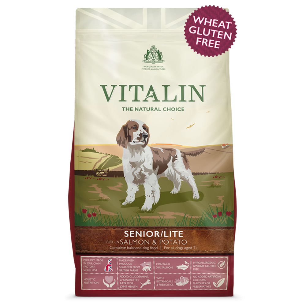 Vitalin Natural Senior/Lite rich in Salmon & Potato Dry Dog Food