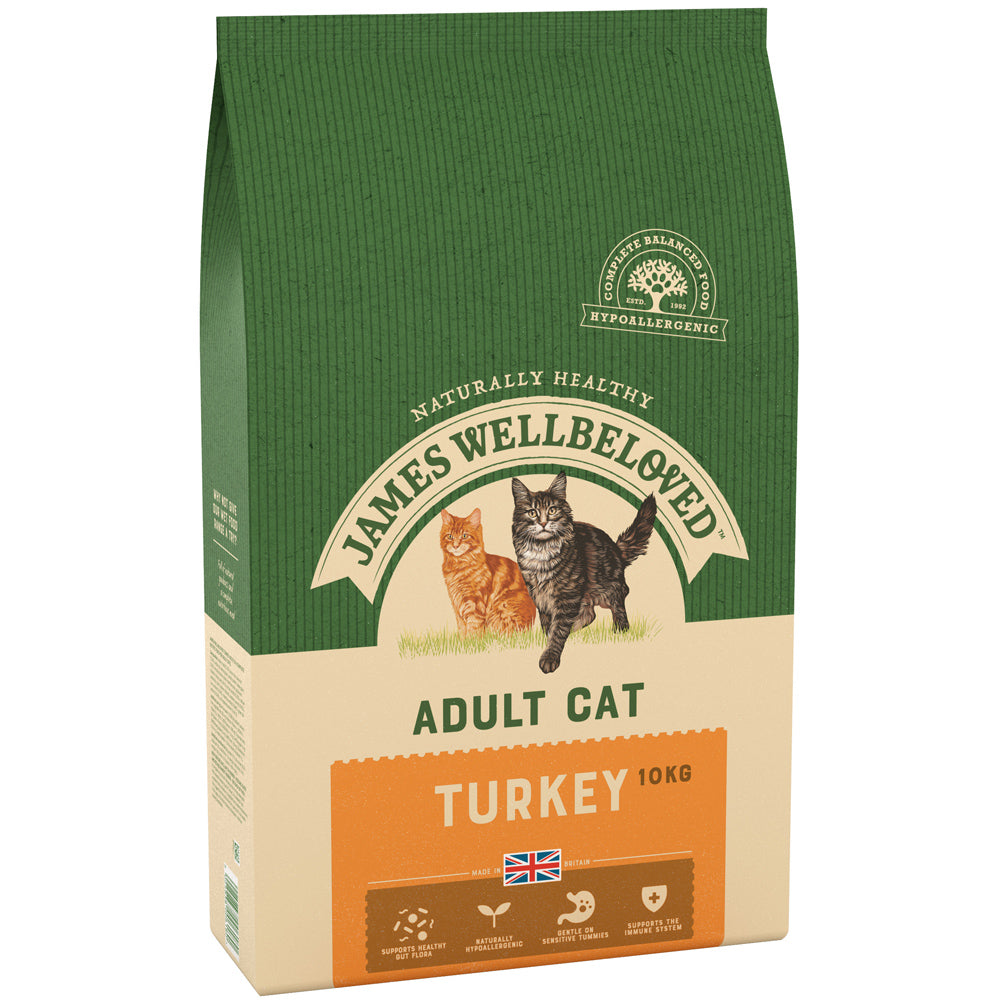 James Wellbeloved Cat Adult Turkey & Rice Dry Cat Food