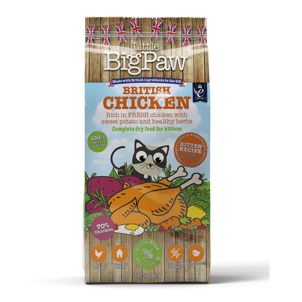 Little Big Paw Kitten British Chicken Dry Dog Food