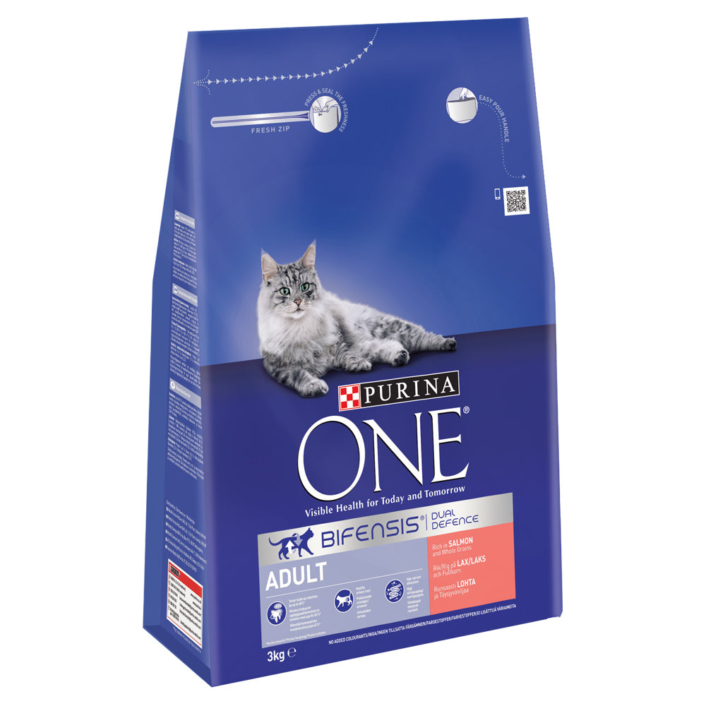 Purina One Cat Adult Salmon & Whole Grain Dry Cat Food