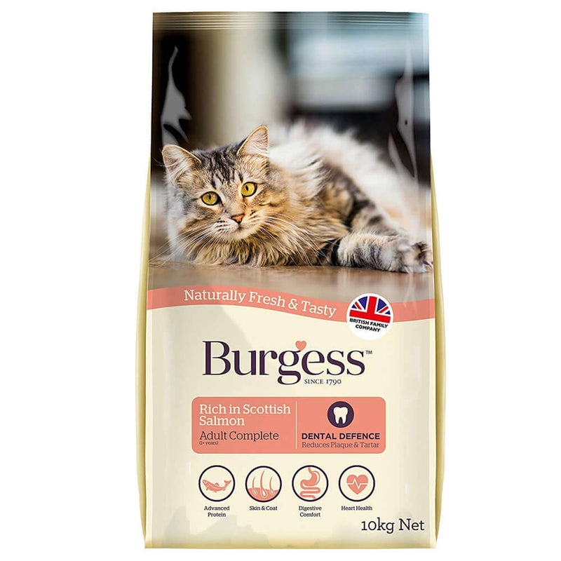 Burgess Cat Adult Salmon Dry Cat Food