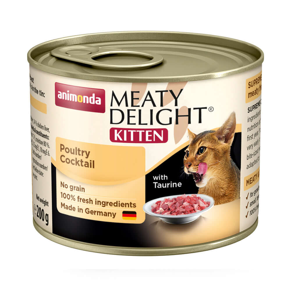 Animonda Meaty Delight Tin Poultry Cocktail Kitten Wet Food