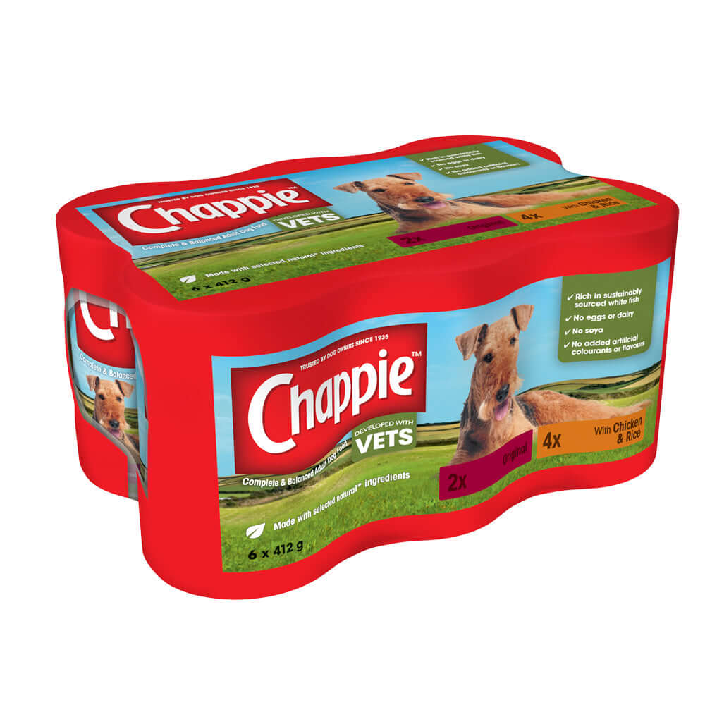 Chappie Favourites Tins Wet Dog Food