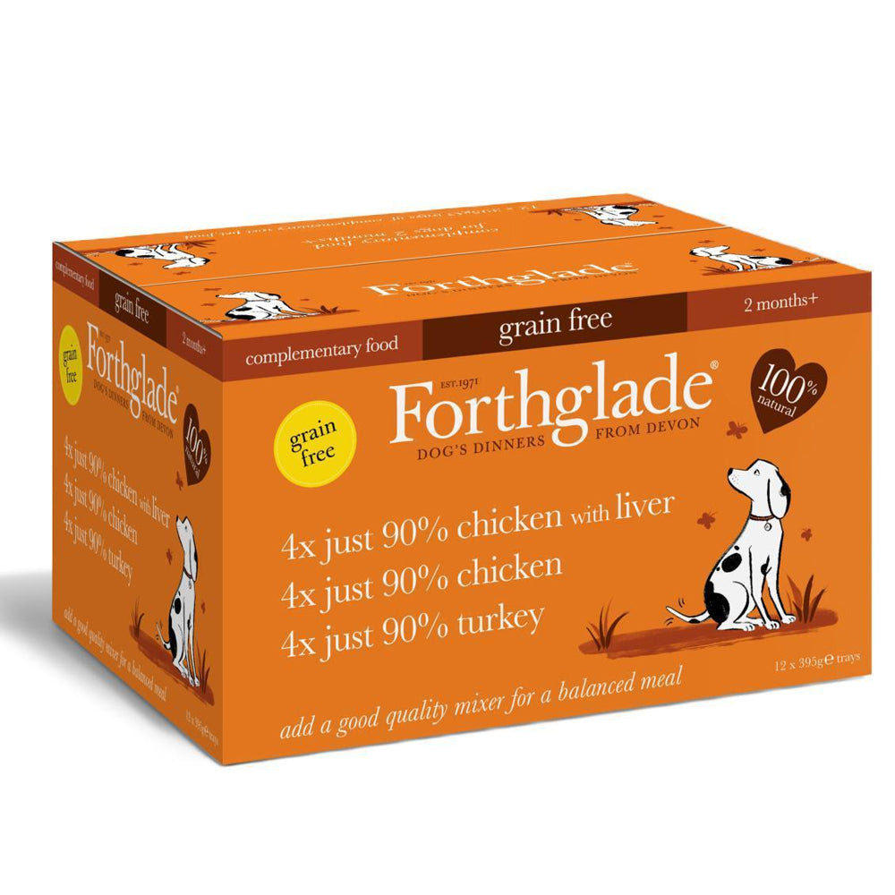Forthglade Just 90% Meat Grain Free Poultry Variety Wet Dog Food