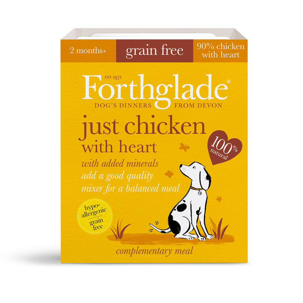 Forthglade Just 90% Meat Grain Free Chicken with Heart Wet Dog Food