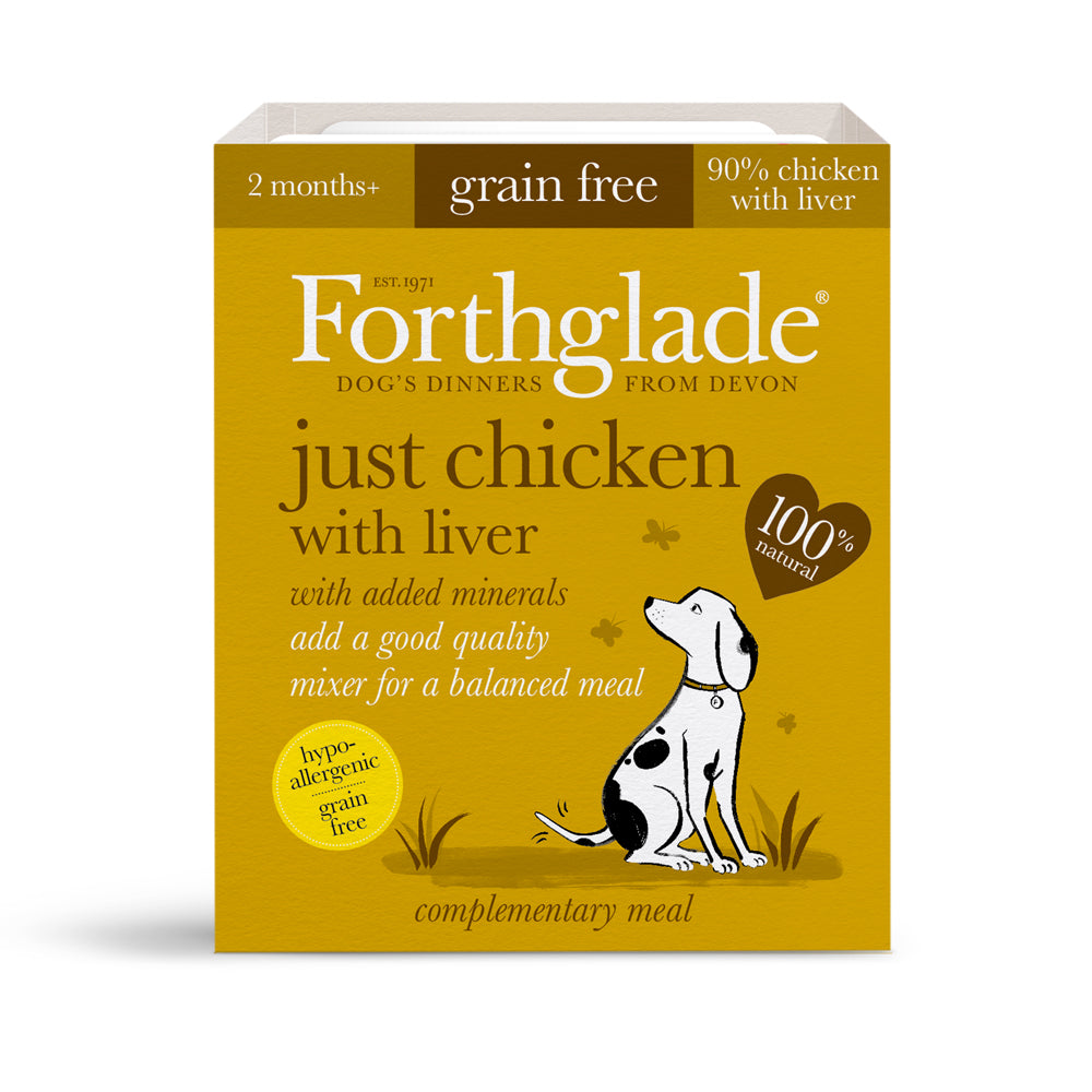 Forthglade Just 90% Meat Grain Free Chicken with Liver Wet Dog Food