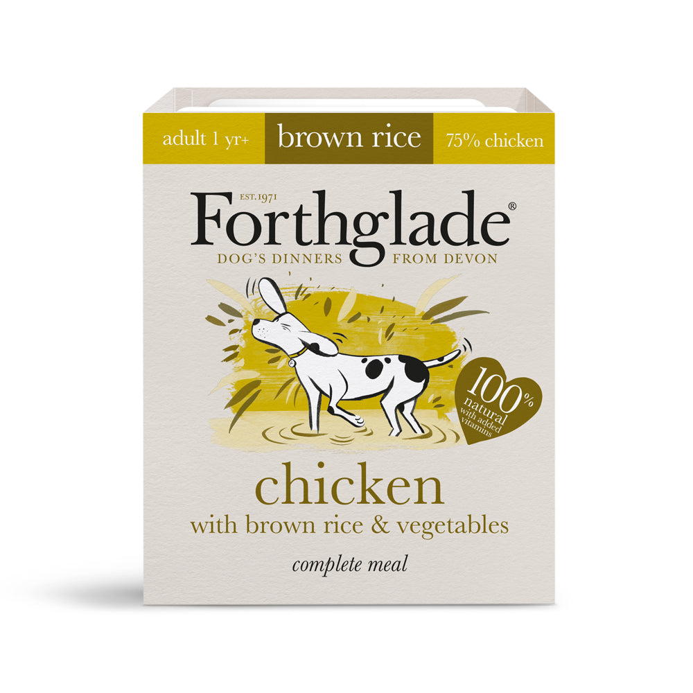 Forthglade Complete Meal Adult Dog Chicken with Brown Rice & Veg Wet Dog Food