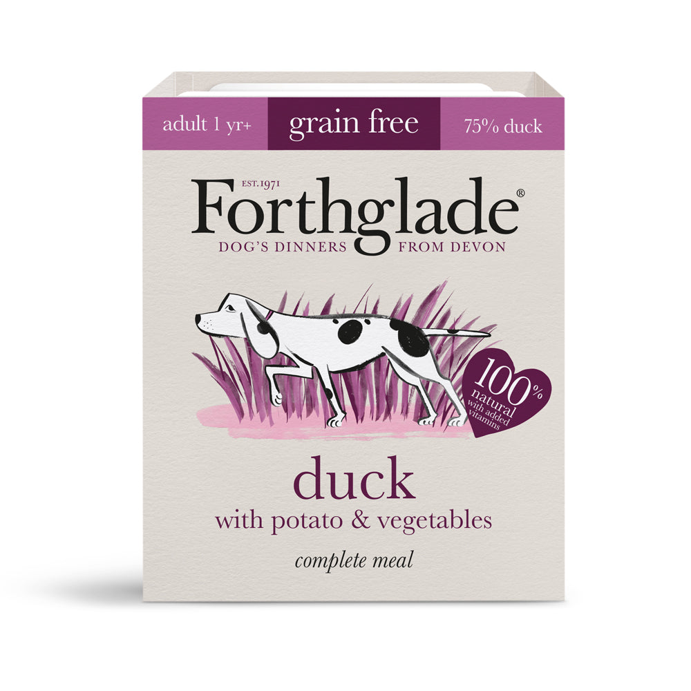 Forthglade Complete Meal Adult Dog Grain Free Duck Potato & Veg Wet Dog Food