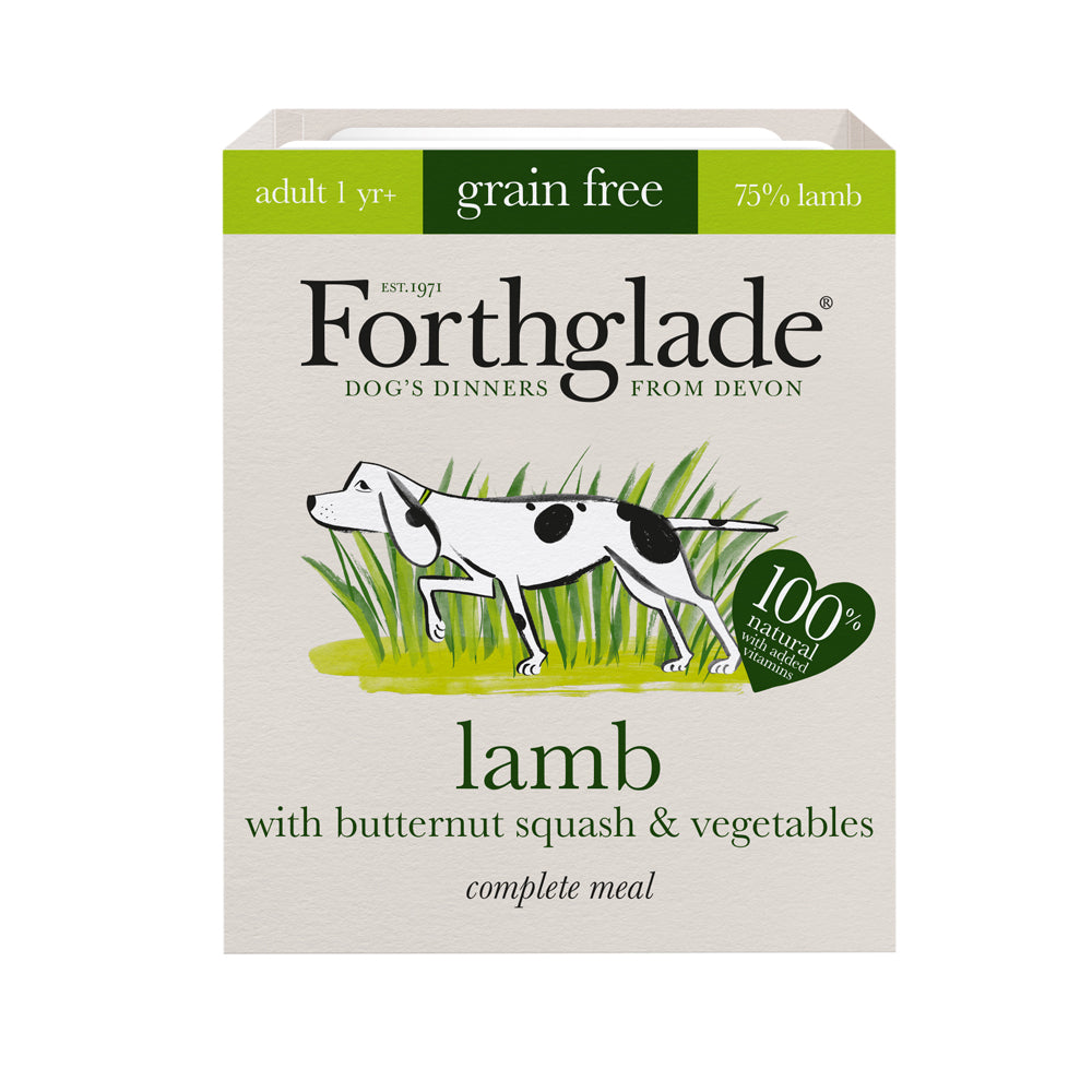 Forthglade Complete Meal Adult Dog Grain Free Lamb Butternut Squash & Veg Wet Dog Food