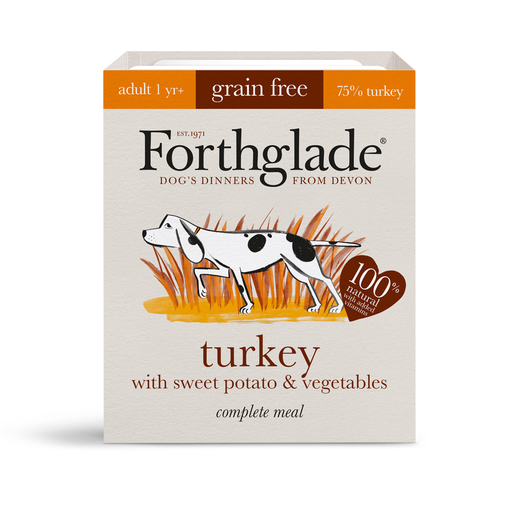 Forthglade Complete Meal Adult Dog Grain Free Turkey Sweet Potato & Veg Wet Dog Food