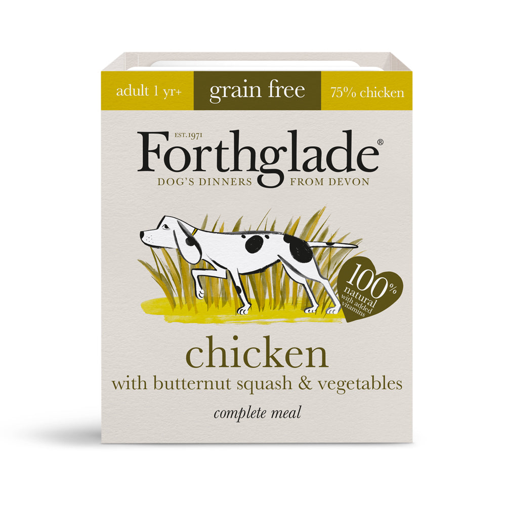 Forthglade Complete Meal Adult Dog Grain Free Chicken with Liver Wet Dog Food