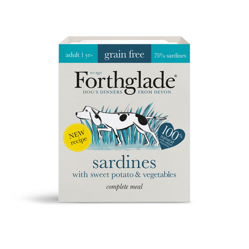 Forthglade Complete Meal Adult Dog Grain Free Sardines Wet Dog Food