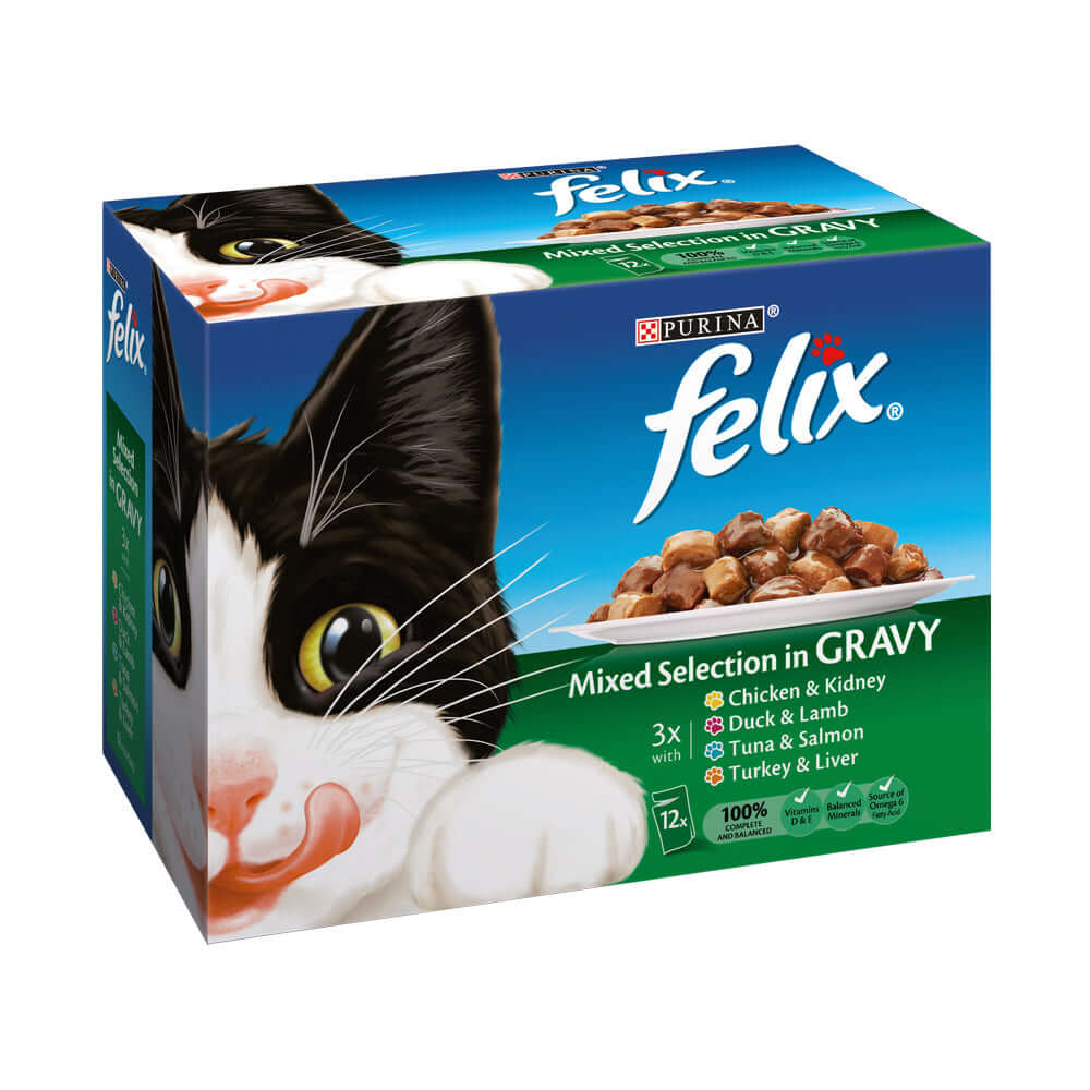 Felix Mixed Selection in Gravy Pouch wet cat food