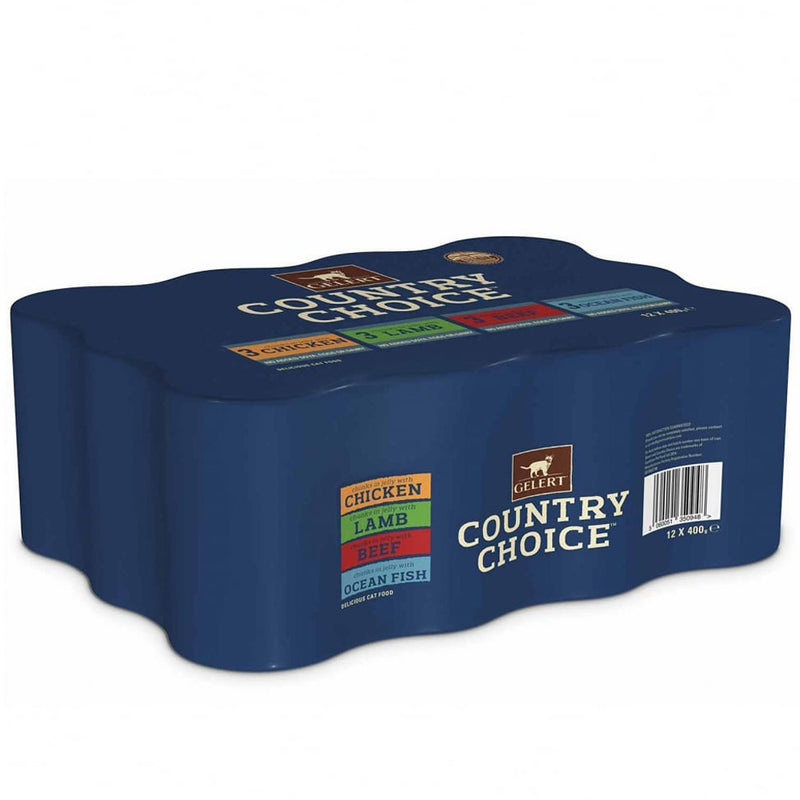 Gelert Country Choice Cat Tins Wet Dog Food