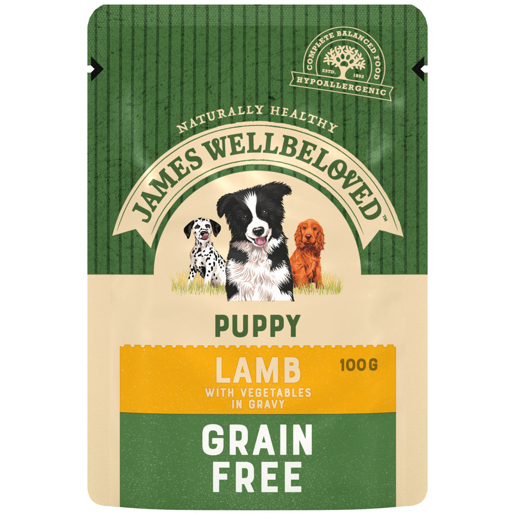 James Wellbeloved Puppy Grain Free Lamb Pouch Dry Dog Food