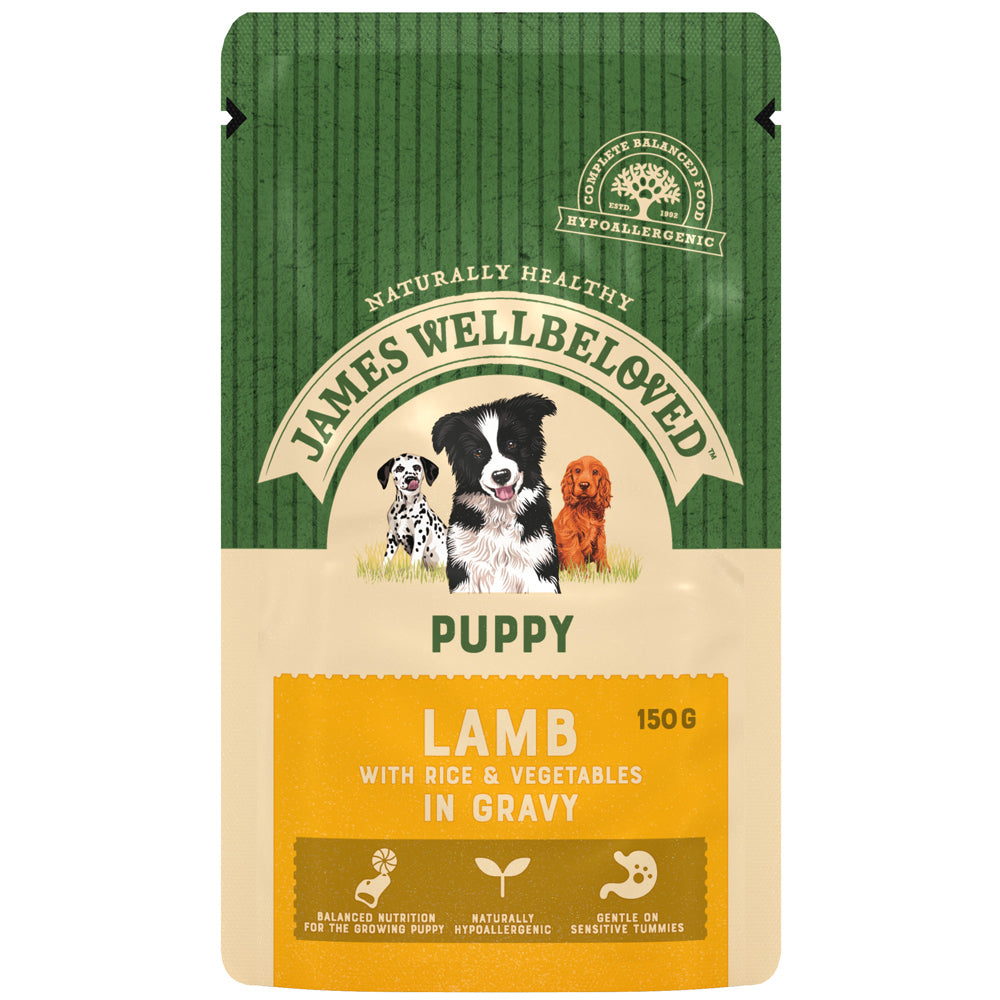 James Wellbeloved Puppy Lamb & Rice Pouch Wet Dog Food