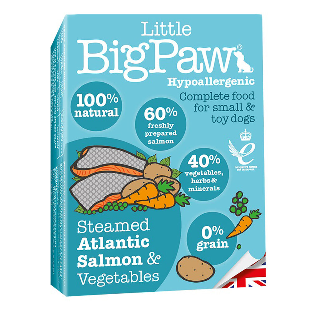 Little Big Paw Dog Small Breed Steamed Atlantic Salmon & Veg Tray Wet Dog Food