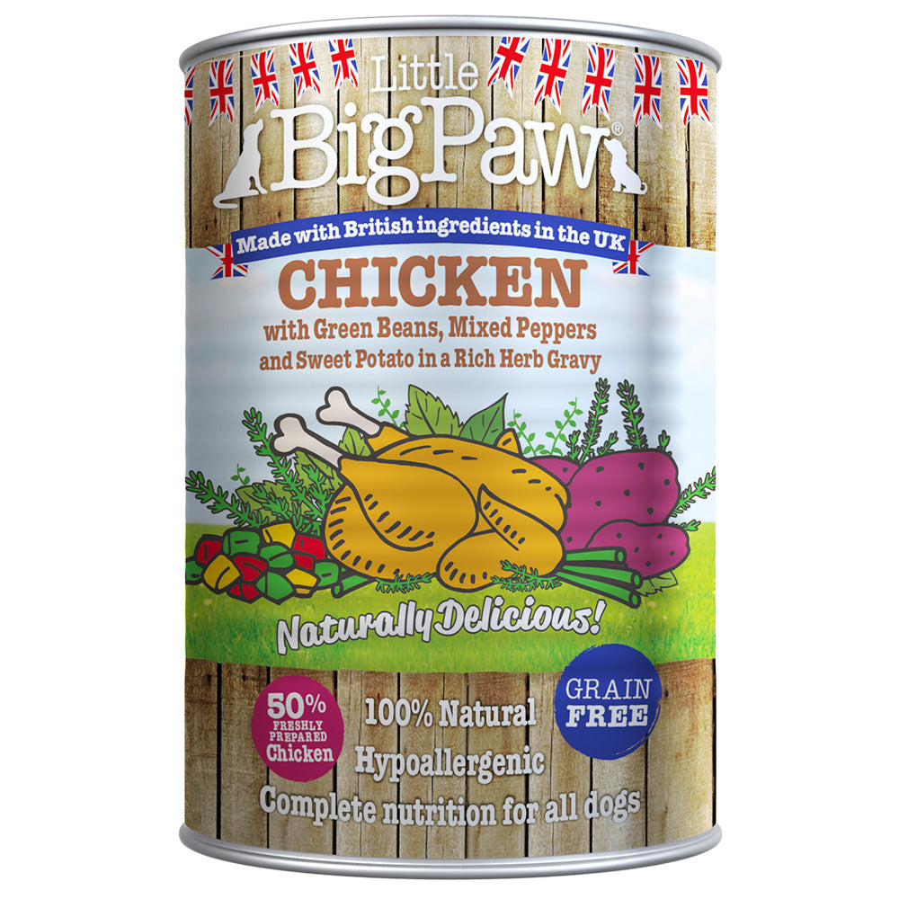 Little Big Paw Dog Naturally Delicious Chicken With Potato in Gravy Tins Wet Dog Food