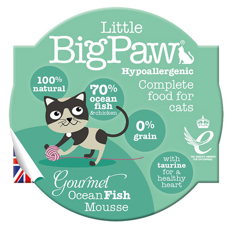 Little Big Paw Cat Gourmet Assorted Seafood Mousse Pot Wet Cat Food
