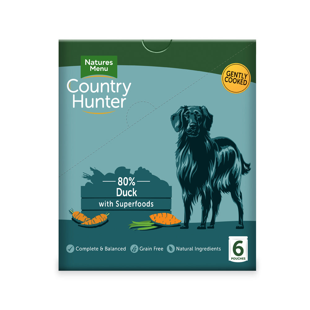 Natures Menu Dog Country Hunter 80% Succulent Duck wet dog food