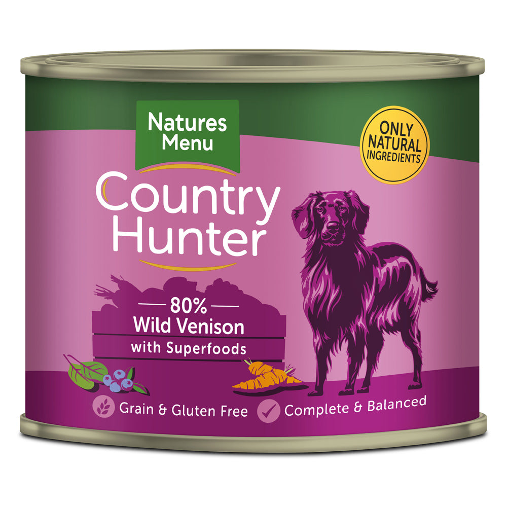 Natures Menu Country Hunter Dog Wild Venison with Superfoods Tins Wet Dog Food