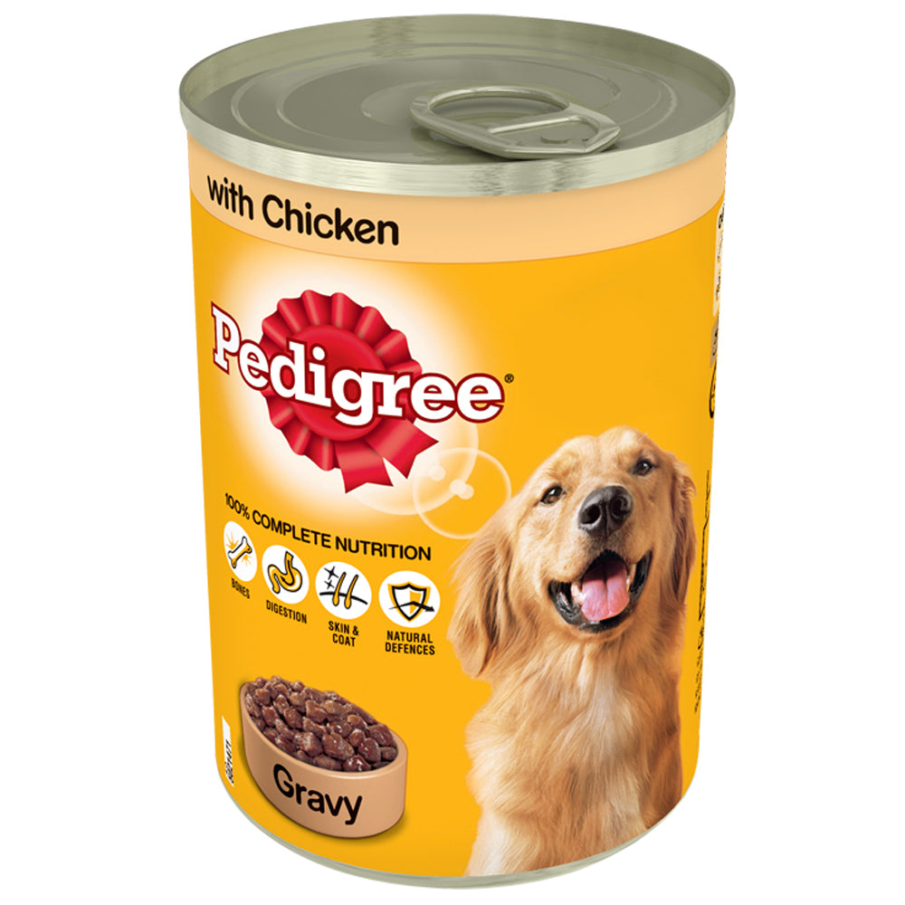 Pedigree Chicken In Gravy Tins Wet Dog Food