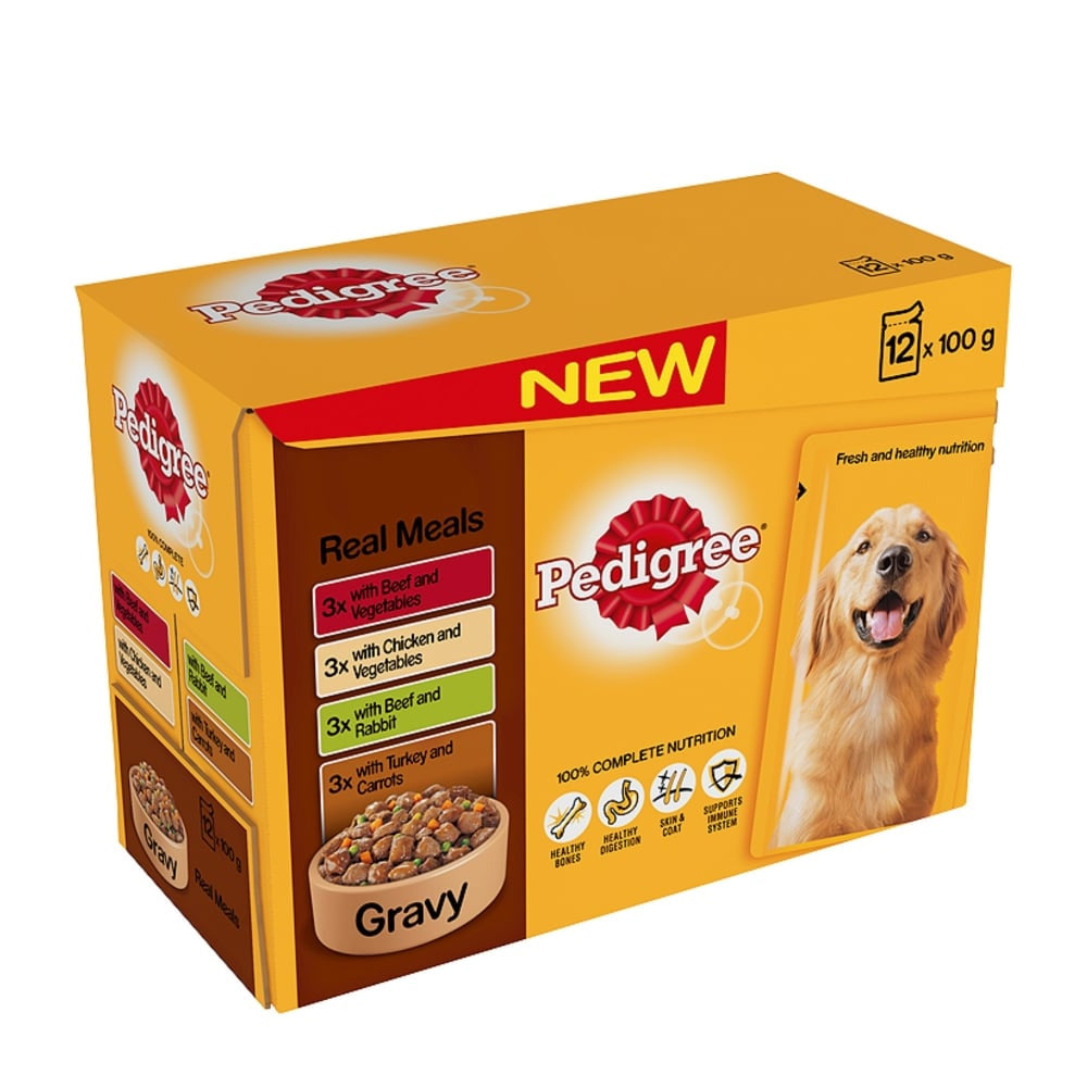 Pedigree Pouch Real Meals in Gravy Wet Dog Food
