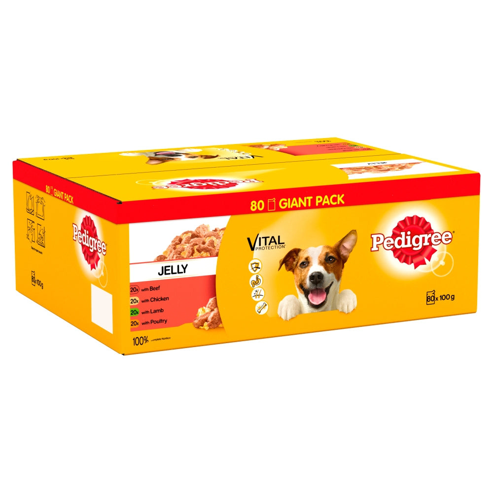 Pedigree Pouches Mixed Selection in Jelly Wet Dog Food