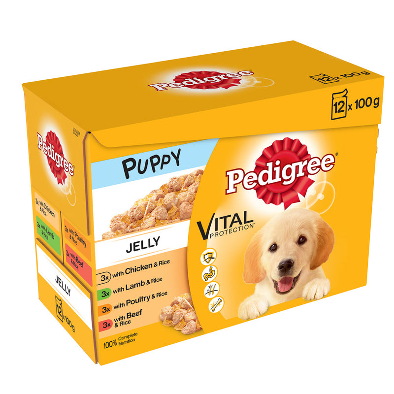 Pedigree Pouch Jelly Puppy Wet Dog Food