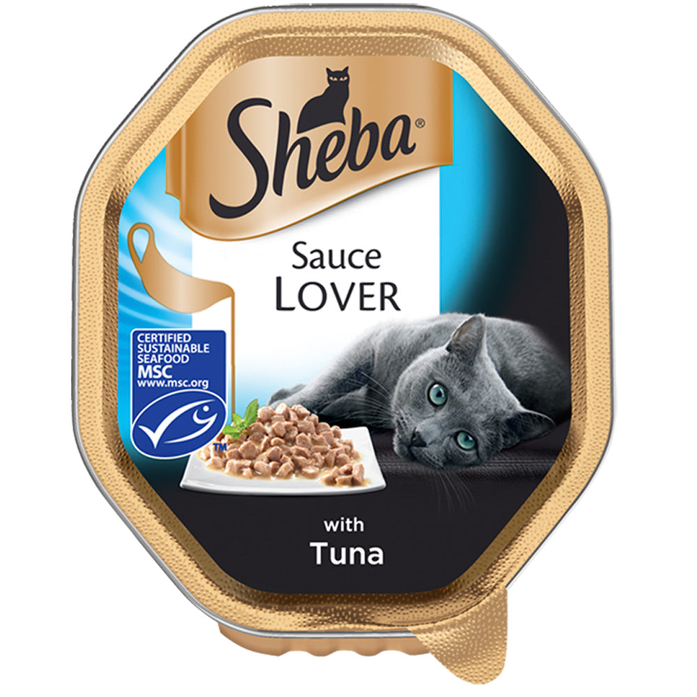 Sheba Sauce Lover With Tuna Tray Wet Cat Food