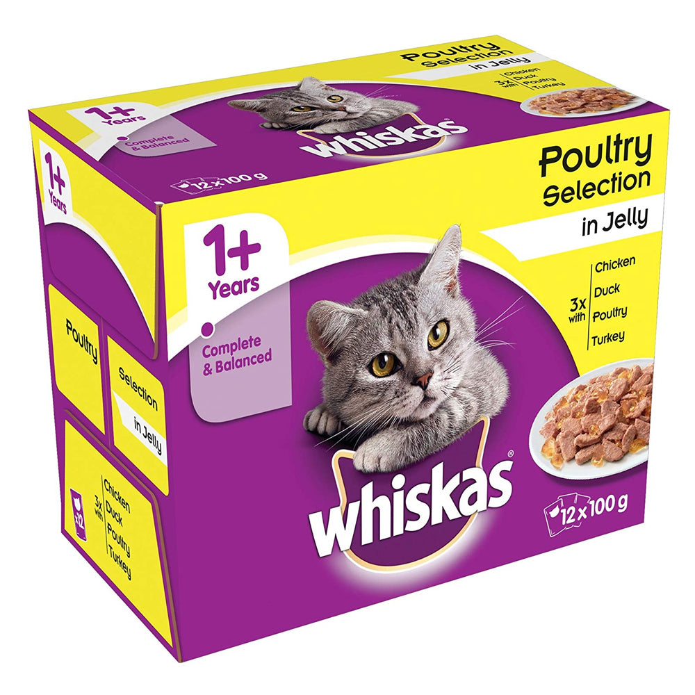 Whiskas Pouch 1+ Poultry Selection in Jelly  Wet Cat Food