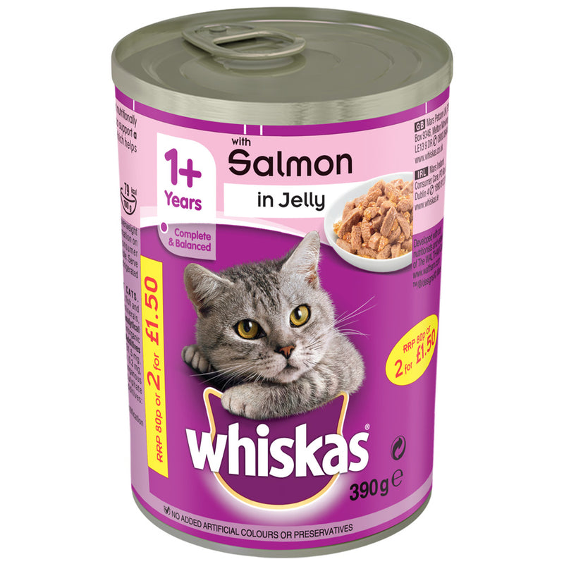 Whiskas Salmon In Jelly Tins Wet Cat Food
