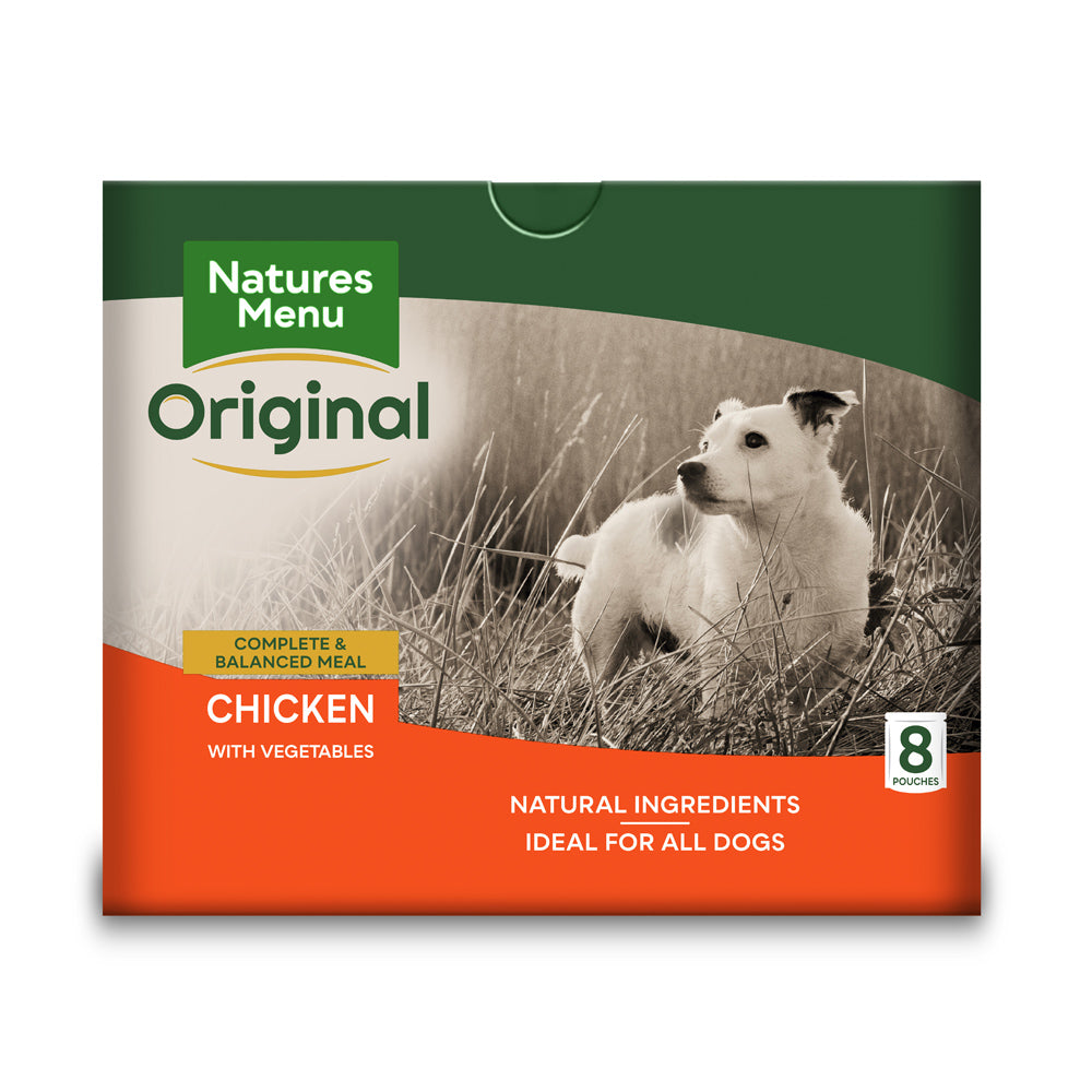 Natures Menu Dog Adult Pouch Chicken Vegetables & Rice Wet Dog Food