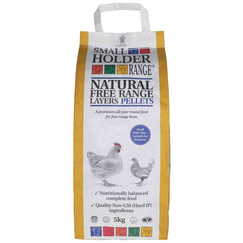 5kg bag of Allen & Page Natural Free Range Layers Pellets