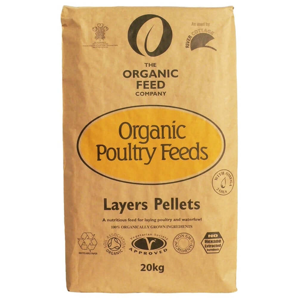 20kg bag of Allen & Page Organic Layers Pellets