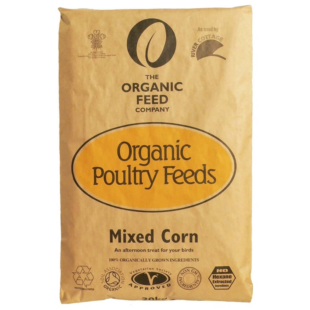 20kg bag of Allen & Page Organic Mixed Corn