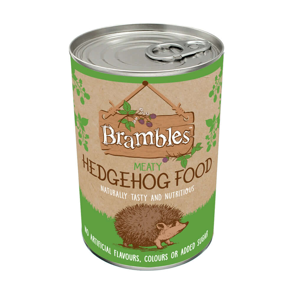 400g tin of Brambles Meaty Hedgehog Food