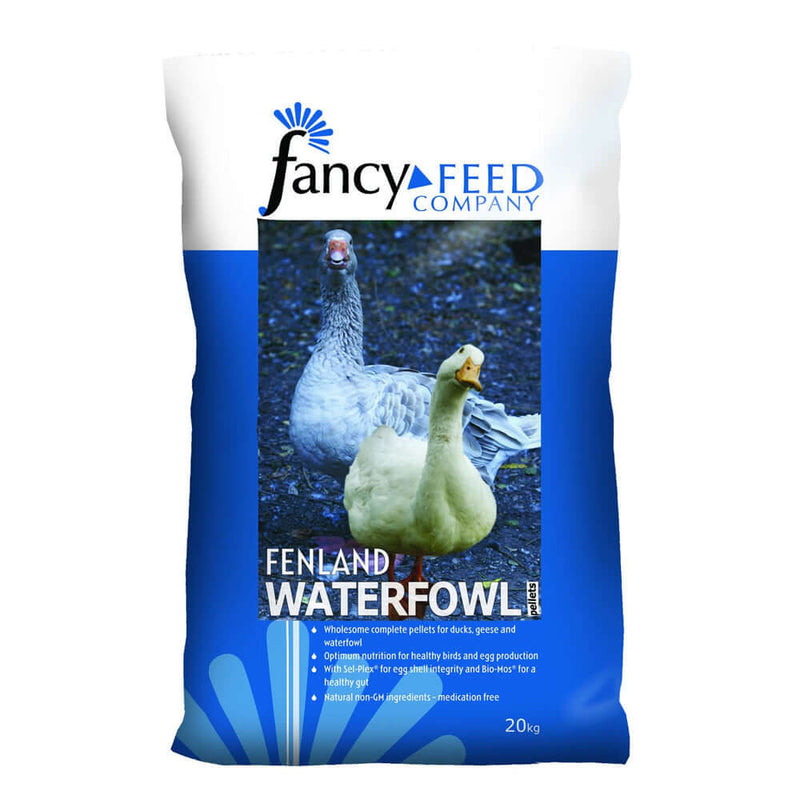 20kg bag of Fancy Feed Fenland Waterfowl Pellets